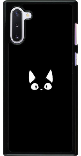 Coque Samsung Galaxy Note 10 - Funny cat on black