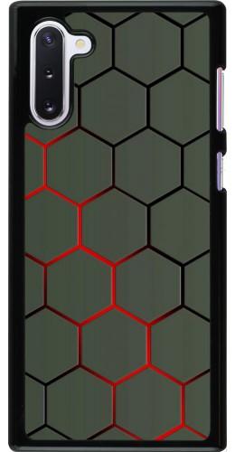 Coque Samsung Galaxy Note 10 - Geometric Line red