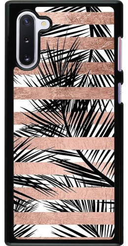 Coque Samsung Galaxy Note 10 - Palm trees gold stripes