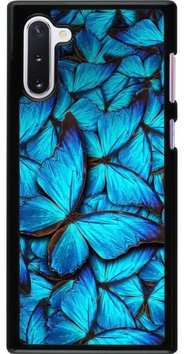 Coque Samsung Galaxy Note 10 - Papillon bleu