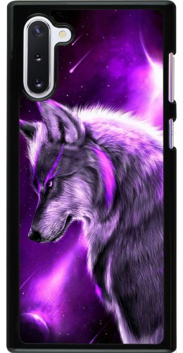 Coque Samsung Galaxy Note 10 - Purple Sky Wolf