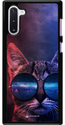 Coque Samsung Galaxy Note 10 - Red Blue Cat Glasses