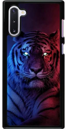 Coque Samsung Galaxy Note 10 - Tiger Blue Red