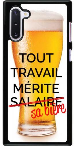 Coque Samsung Galaxy Note 10 - Tout travail mérite sa bière
