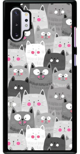 Coque Samsung Galaxy Note 10+ - Chats gris troupeau
