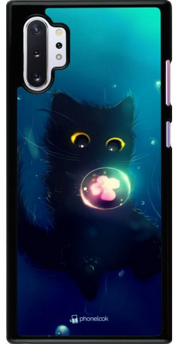 Coque Samsung Galaxy Note 10+ - Cute Cat Bubble