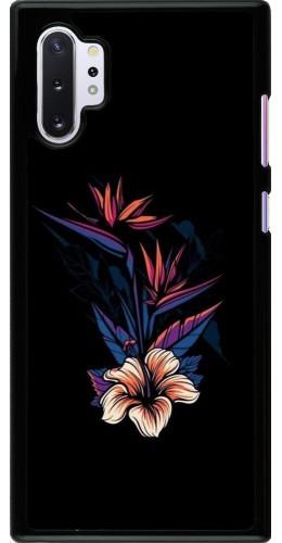 Coque Samsung Galaxy Note 10+ - Dark Flowers