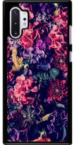 Coque Samsung Galaxy Note 10+ - Flowers Dark
