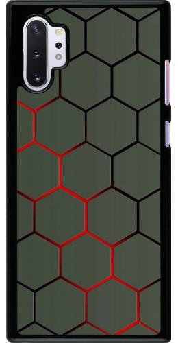 Coque Samsung Galaxy Note 10+ - Geometric Line red