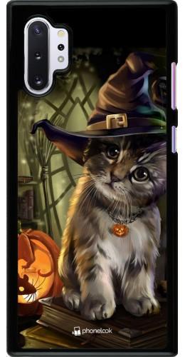 Coque Samsung Galaxy Note 10+ - Halloween 21 Witch cat