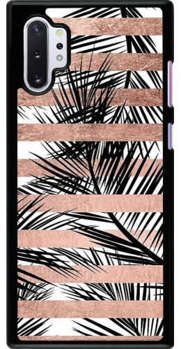 Coque Samsung Galaxy Note 10+ - Palm trees gold stripes