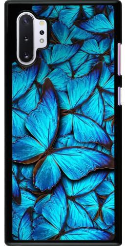 Coque Samsung Galaxy Note 10+ - Papillon bleu