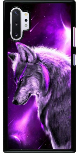 Coque Samsung Galaxy Note 10+ - Purple Sky Wolf