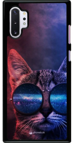 Coque Samsung Galaxy Note 10+ - Red Blue Cat Glasses