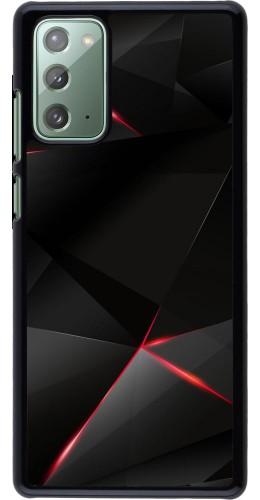 Coque Samsung Galaxy Note 20 - Black Red Lines