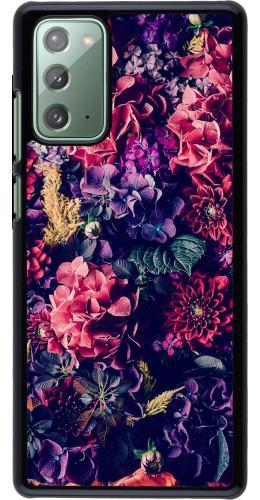 Coque Samsung Galaxy Note 20 - Flowers Dark