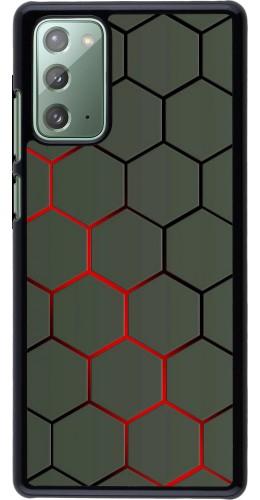 Coque Samsung Galaxy Note 20 - Geometric Line red