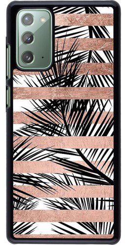 Coque Samsung Galaxy Note 20 - Palm trees gold stripes