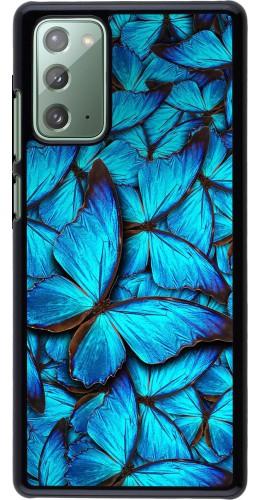 Coque Samsung Galaxy Note 20 - Papillon bleu