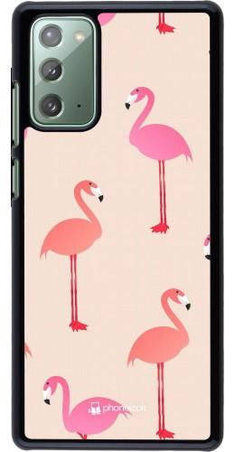 Coque Samsung Galaxy Note 20 - Pink Flamingos Pattern