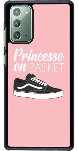 Coque Samsung Galaxy Note 20 - princesse en basket