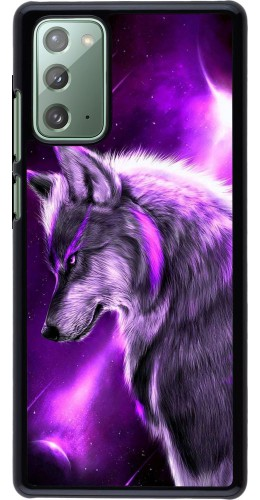 Coque Samsung Galaxy Note 20 - Purple Sky Wolf