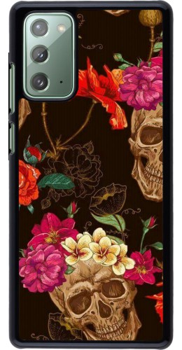 Coque Samsung Galaxy Note 20 - Skulls and flowers