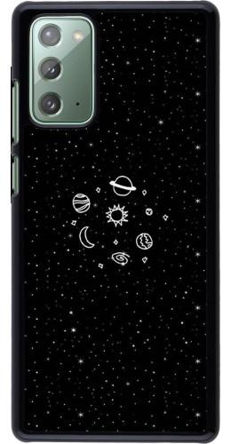 Coque Samsung Galaxy Note 20 - Space Doodle