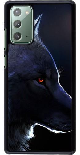 Coque Samsung Galaxy Note 20 - Wolf Shape