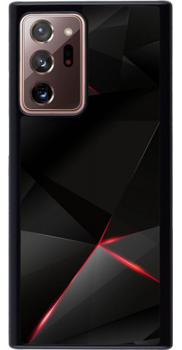 Coque Samsung Galaxy Note 20 Ultra - Black Red Lines