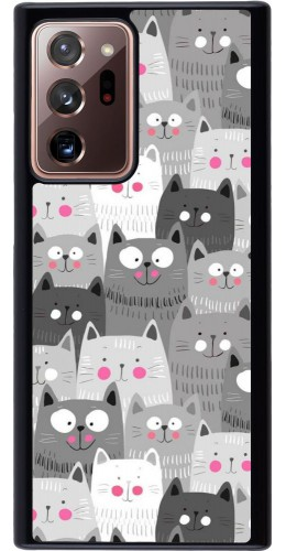 Coque Samsung Galaxy Note 20 Ultra - Chats gris troupeau