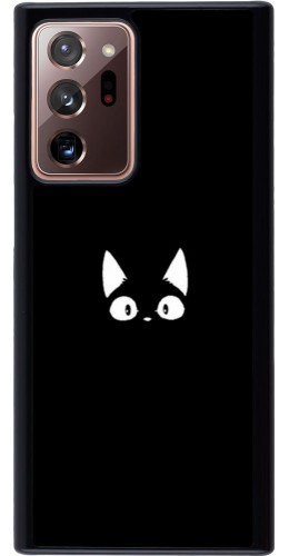 Coque Samsung Galaxy Note 20 Ultra - Funny cat on black