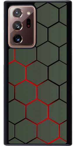 Coque Samsung Galaxy Note 20 Ultra - Geometric Line red