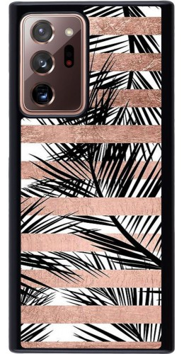 Coque Samsung Galaxy Note 20 Ultra - Palm trees gold stripes