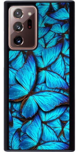 Coque Samsung Galaxy Note 20 Ultra - Papillon bleu