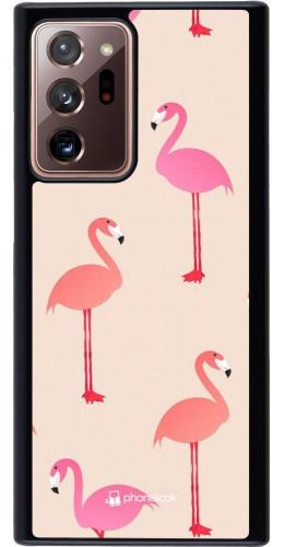 Coque Samsung Galaxy Note 20 Ultra - Pink Flamingos Pattern