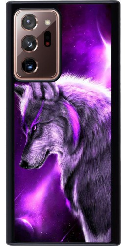Coque Samsung Galaxy Note 20 Ultra - Purple Sky Wolf