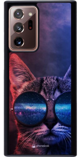 Coque Samsung Galaxy Note 20 Ultra - Red Blue Cat Glasses