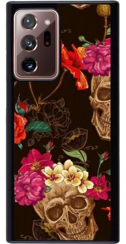 Coque Samsung Galaxy Note 20 Ultra - Skulls and flowers
