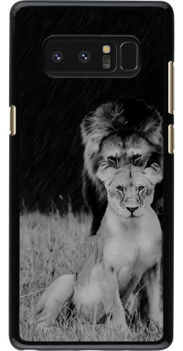 Coque Galaxy Note 8 - Angry lions