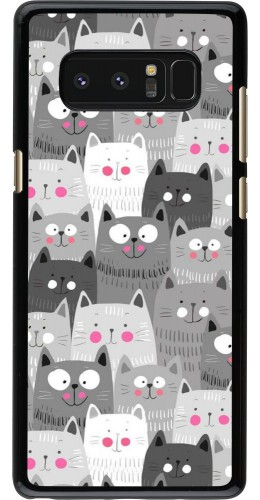 Coque Samsung Galaxy Note8 - Chats gris troupeau