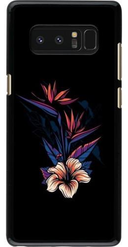 Coque Samsung Galaxy Note8 - Dark Flowers