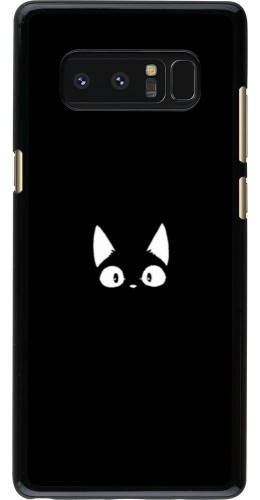 Coque Samsung Galaxy Note8 - Funny cat on black