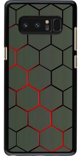 Coque Samsung Galaxy Note8 - Geometric Line red