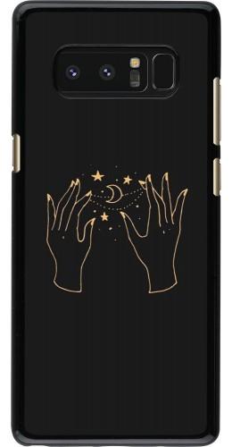 Coque Samsung Galaxy Note8 - Grey magic hands