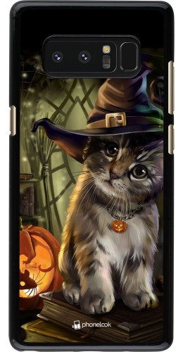 Coque Samsung Galaxy Note8 - Halloween 21 Witch cat