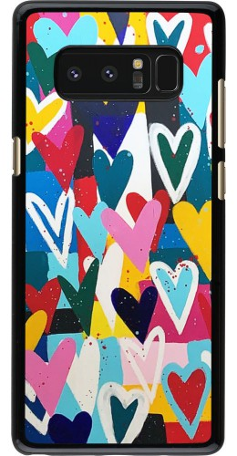 Coque Samsung Galaxy Note8 - Joyful Hearts