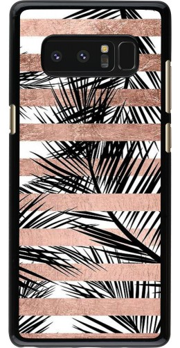 Coque Galaxy Note8 - Palm trees gold stripes