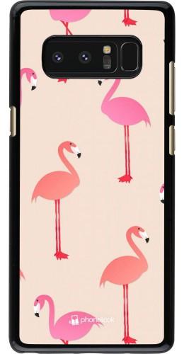 Coque Samsung Galaxy Note8 - Pink Flamingos Pattern