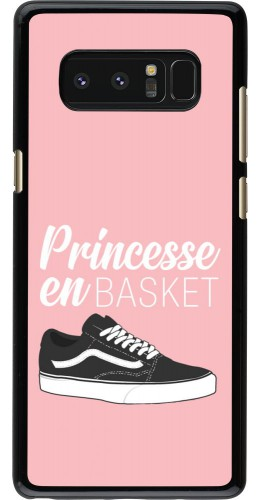 Coque Samsung Galaxy Note8 - princesse en basket